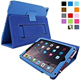 iPad Air 2 Case, Snugg™ - Smart Cover with Flip Stand & Lifetime Guarantee (Electric Blue Leather) for Apple iPad Air 2 (2014)