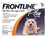 Merial Frontline Plus for Dogs Flea and Tick Control, 0 - 22 LBS (6 Months Supply) Brand New