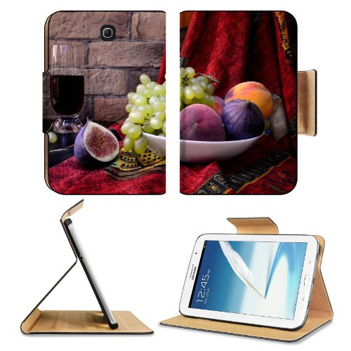 Figs Grapes Fruit Juice Plate Samsung Galaxy Note 8 Gt-N5100 Gt-N5110 Gt-N5120 Flip Case Stand Magnetic Cover Open Ports Customized Made To Order Support Ready Premium Deluxe Pu Leather 8 7/16 Inch (215Mm) X 5 11/16 Inch (145Mm) X 11/16 Inch (17Mm) Liil N front-944502