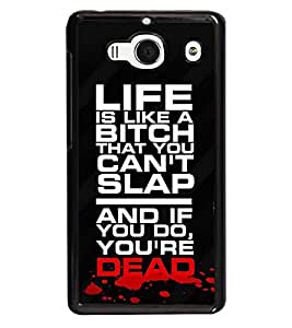 printtech Dead Quote Back Case Cover for Xiaomi Redmi 2S::Xiaomi Redmi 2::Xiaomi Redmi 2 Prime