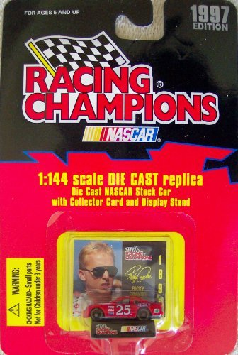 1997 Edition Racing Champions Ricky Craven #25 Hendrick 1:144 Scale Replica Die Cast Replica w/Collector Card and Display Stand - 1