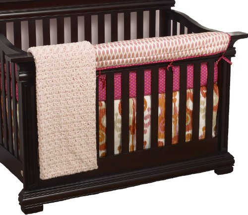 Cotton Tale Designs Front Crib Rail Cover Up Crib Bedding Set, Sundance