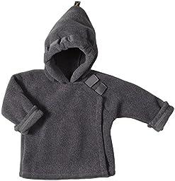 Widgeon Unisex Baby Fleece Wrap Jacket, Grey, 18 Months