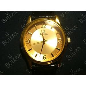 Bulova Men's Leather Band Watch