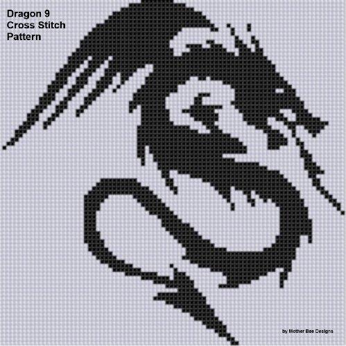 Dragon 9 Cross Stitch Pattern