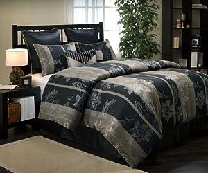 Nanshing America Belisama 8-Piece California King Jacquard Comforter Set