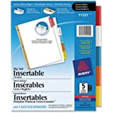 Avery WorkSaver Big Tab Insertable Dividers, 5-Tab Set (11121)