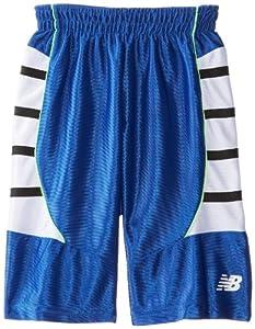 New Balance Boys 2-7 Dazzle Close Hole Mesh Shorts with Sidetaping, Royal, 5/6