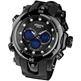 Infantry Night Vision Mens Clock Watch Digital Analog Army Military Sports Black Rubber Strap