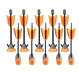 Zing Toys Air 10 Units Extra Arrows Suction Cup Arrows Refills Whistle Arrows Orange