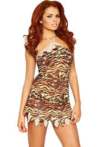 3WISHES 'Rockbed Rebel Costume' Sexy Sheer Cave Girl Costumes for Women