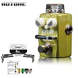 Hotone Skyline Liftup Clean Boost Analog Micro Guitar Pedal Stompbox w/ Picks & Patch Cable from GoDps Music