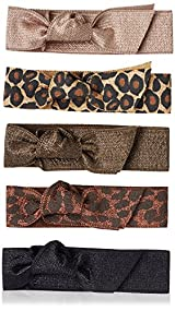Emi-Jay Set of 5 Hair Ties, Jaguar