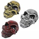 ハロウィンにスカルフェイス3個セットドクロ骸骨の怖いお面セットコスプレ衣装道具(A.3色セット)