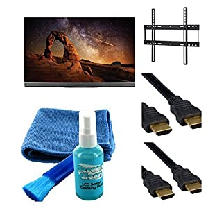 Electronics OLED65E6P FLAT 65-INCH 4K ULTRA HD SMART OLED TV (2016 MODEL) - 5 PIECE BUNDLE