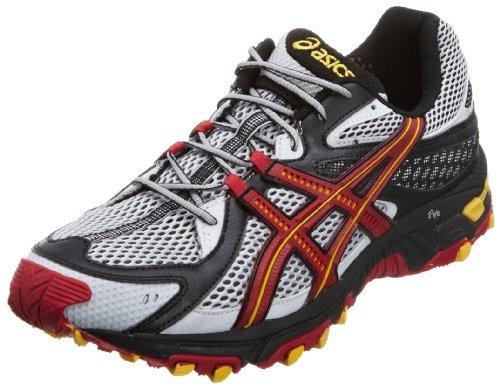 Asics Men's Gel Trabuco 13 Grey/Red/Yellow Trainer T0B3N9321 7.5 UK