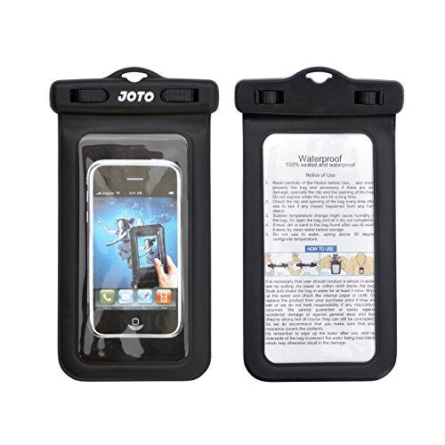 "Joto Universal Waterproof Bag Case For Iphone 5S 5 4S 4, Samsung Galaxy S5, S4, S3, Nexus 5, 4, Nokia Lumia 520, 630, 930, Blackberry Z10, Z3, Motorola Moto X, G, E - Also Fits Other Smartphones Up To 5.3"" Diagonal - Ipx8 Certified To 100 Feet (Black)"