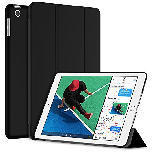 JETech Case for Apple iPad (9.7-Inch, 2018/2017 Model), Smart Cover Auto Wake/Sleep, Black