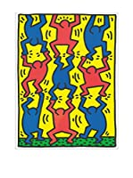Artopweb Panel Decorativo Haring Untitled, Aids Update 18X25 cm Bordo Nero