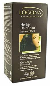 Logona Herbal Hair Color 100% Botanical Henna Black - 3.5 Oz