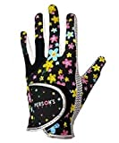 Persons(パーソンズ) ゴルフグローブ 手袋  レディース両手 PSGL09BK18 ブラック 18cm