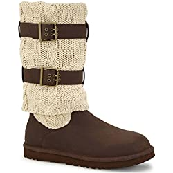 UGG Women's Cassidee Tall (Chocolate Leather/Knit)