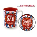 Enesco Our Name is Mud by Lorrie Veasey 16-Ounce Super Dad Mug, 4.5-Inch