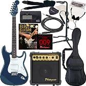 SELDER エレキギター ストラトキャスタータイプ ST-16 初心者入門13点セット /メタリックブルー(9707001031)