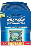 Protector 3D Diamond by Wilkinson Sword Razor Blade Pack 4 + 1