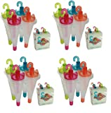 16 x Kitchen Craft Umbrella Ice Lolly Pop Popsicle Moulds Ice Cream Makers Fun