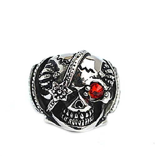 mens-stainless-steel-finger-rings-skull-biker-inlaid-aaa-red-cz-silver-black-2cm-size-p-1-2