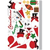 Easy Instant Decoration Wall Sticker Decal - Merry Christmas with Santa Claus