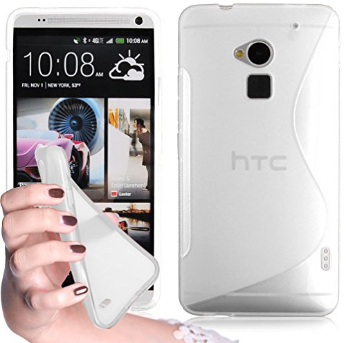 cadorabo-tpu-s-line-style-silikon-hulle-fur-htc-one-max-case-cover-schutzhulle-bumper-in-halb-transp