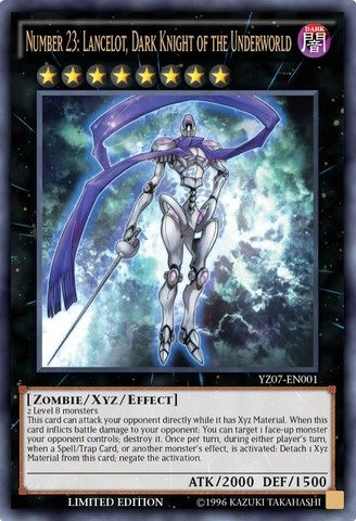 Yu-Gi-Oh! - Number 23: Lancelot Dark Knight of the Underworld (YZ07-EN001) - 5D's Manga Promos - Limited Edition - Ultra Rare (Yugioh Number 23 compare prices)