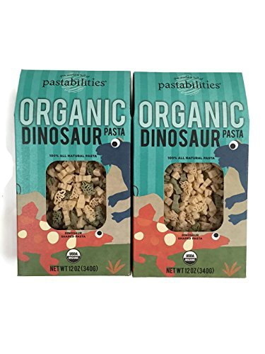 Pastabilities Kids Organic Pasta Bite Size Dinosaur Shapes - 12 Ounce Packages - Set of 2 (Organic Pasta For Kids compare prices)