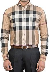 Unkonventional Men's Casual Shirt (unkchkbeizzl_Multicolor_40)
