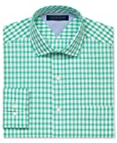 "Tommy Hilfiger Gingham Long Sleeve Dress Shirt, Green, 18"" 34/35"