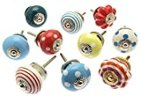 Mixed Set of Bright Coloured Cupboard Knobs x Pack 10 (MANGO-98)
