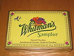 Whitman\'s Sampler Nut, Chewy & Crisp Centers Box, 12 Ounce