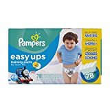 Pampers Easy Ups Training Pants, Size 6 (4T5T) Value Pack Boys Diapers, 78 Count
