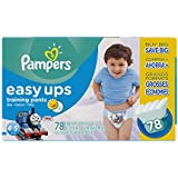Pampers Easy Ups Training Pants, Size 6 (4T5T) Value Pack Boy, 78 Count