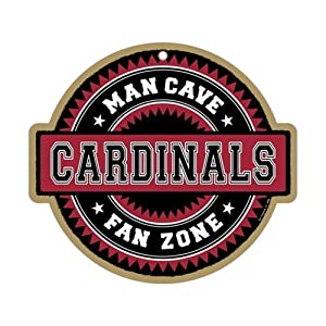 Arizona Cardinals Man Cave Fan Zone Wood Sign by Hall of Fame Memorabilia