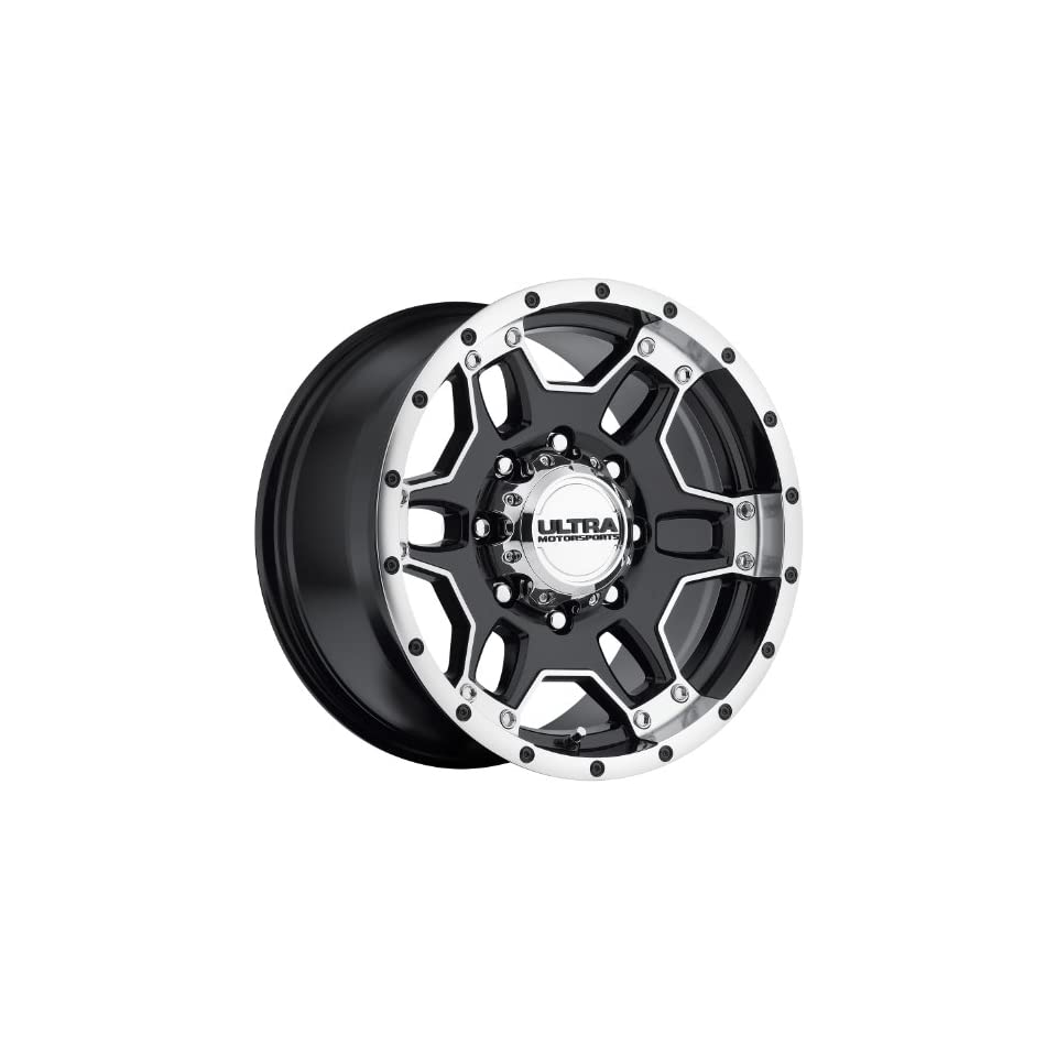 Ultra Mongoose 17 Machined Black Wheel / Rim 8x170 with a 12mm Offset and a 125 Hub Bore. Partnumber 178 7987B