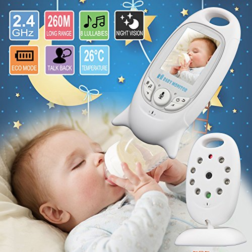 2.0 Inch Color LCD Wireless Digital Audio Video Security Baby Monitor 2 Way Talk Night Vision Alarm Sensor