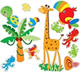Animals of the Rain Forest Fisher Price Wall Stickers