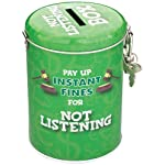 Boxer Gifts Instant Fines Pay Up Tin, Not Listening