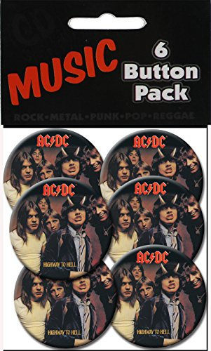 "C&D Visionary AC/DC Highway to Hell 1.25"" Button (6-Piece) - 1"