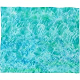 DENY Designs 80 by 60-Inch Rosie Brown Sparkling Sea Fleece Throw Blanket, Large