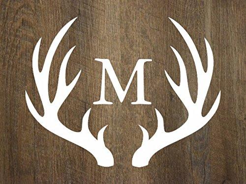 Rustic Country Wood White Deer Antlers Monogram Doormat (Antler Hose compare prices)