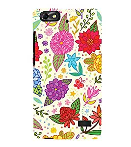 Clipart Floral Design Cute Fashion 3D Hard Polycarbonate Designer Back Case Cover for Huawei Honor 4C :: Huawei G Play Mini